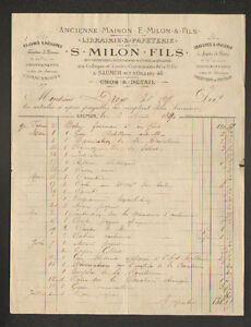 SAUMUR-49-LIBRAIRIE-PAPETERIE-034-S-MILON-Fils-034-en-1890