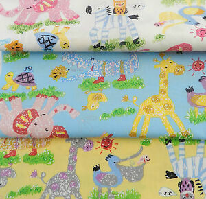 per-FQ-HALF-METRE-animal-party-choice-of-3-colours-100-cotton-poplin