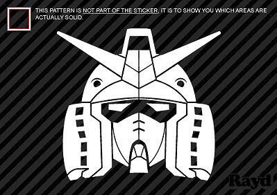 Gundam Sticker Die Cut Decal Self Adhesive Vinyl