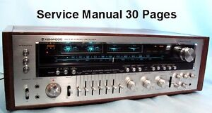 KENWOOD-MODEL-ELEVEN-G-KR-11000G-SERVICE-MANUAL-30-PAGES-FREE-SHIPPING