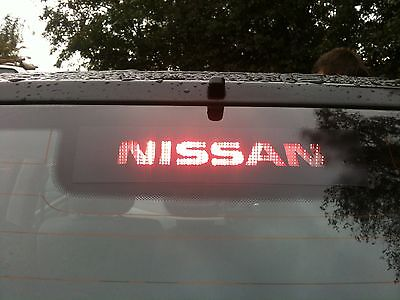 """YOUR NAME/LOGO"" NISSAN X-TRAIL  3rd BRAKE LIGHT STICKER/OVERLAY"