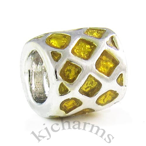 Wholesale Lot 10pcs Silver Enamel European Spacer Charm Beads For Bracelet