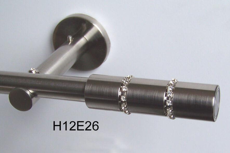 Gardinenstange Gardinenstange Gardinenstange Edelstahl Look Kristall 16mm 1-lgf.  H12 | Garantiere Qualität und Quantität  c46012