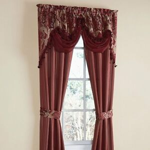 034-IMPERIAL-034-JACQUARD-CURTAIN-PANELS-W-VALANCE-amp-TIES