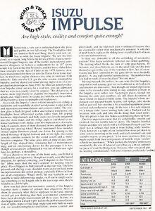1983-1984-Isuzu-Impulse-Road-Test-Classic-Article-D145