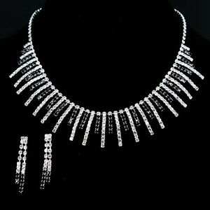BLACK-SAPPHIRE-CRYSTAL-S306N-EARRINGS-NECKLACE-SETS
