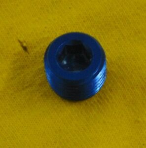 1/2 NPT hex head pipe plug blue 1/2""