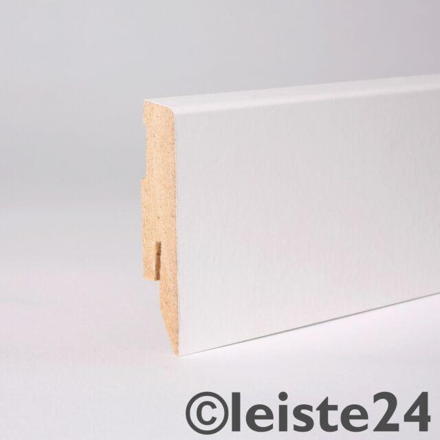 Sockelleisten Fußleisten für Laminat 60mm Dekor Weiß