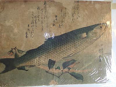 Original Utagawa Hiroshige (1797-1858) Woodblock Print, Fish Series (Item #3)