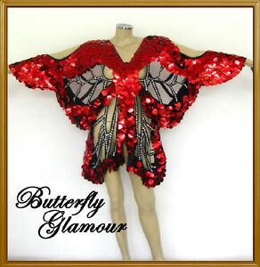RED-GLAM-DIVA-Drag-Queen-butterfly-SEQUIN-DANCE-dress