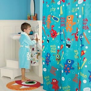 Jumping-Beans-Monster-Eyeball-Hand-Towel-Kid-Bath-Rug-Shower-Curtain-Wastebasket