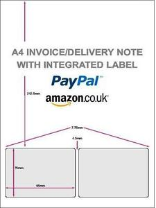 Amazon, Paypal, Ecommerce Integrated Shipping / Invoice / Packing Labels x 100 | eBay