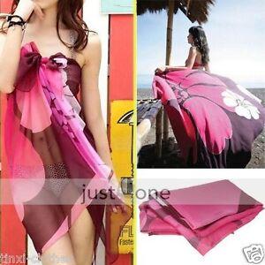 New-Women-Fashion-Summer-Beach-Wrap-Swimwear-Bikini-Cover-Up-Sarong-Scarf-Pareo