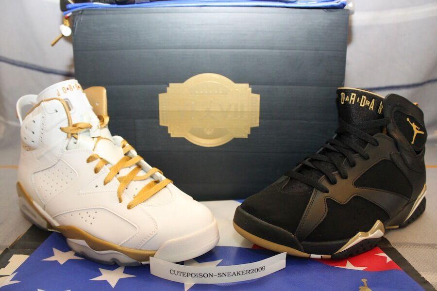 Nike Air Jordan GOLDEN MOMENT PACK GMP VI 6 VII 7 Men SZ 9 W/receipt 535357-935