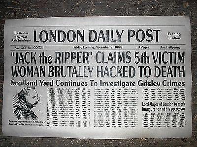 "(394) NOVELTY POSTER HALLOWEEN JACK the RIPPER WHITECHAPEL LONDON 11""x17"""