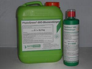 phytogreen bio blumen d nger f r bl hpflanzen 5 l kanister ebay. Black Bedroom Furniture Sets. Home Design Ideas