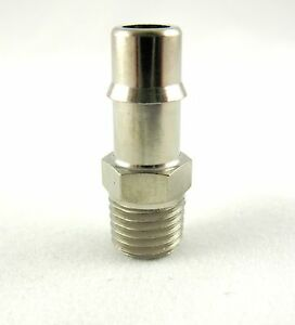 "1pc Nickel Plated Brass Fitting 1/4"" ID Hose- 1/16 NPT MettleAir 125NP-41-SB"
