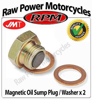 Yamaha XV125 Virago 1997-2001 Oil Drain Sump Plug Bolt /Washer x 2 (8340431)