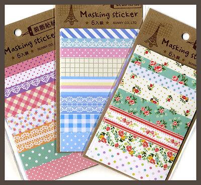 Scrapbook Element Vintage Floral Polka Dot Sticker 6 sheet pack 5 design pick 1
