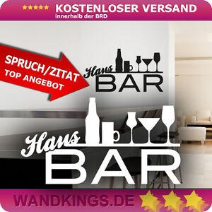 Details about Wandtattoo - Hausbar - Bar Cocktail Wein Sekt Wohnzimmer ...