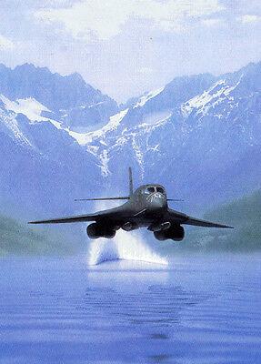 """Power"" Dru Blair B-1B Bomber Signed Aviation Print"