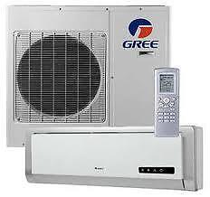 Gree mini split heat pump 9k btu 115v indoor and outdoor for 18000 btu heat pump window unit