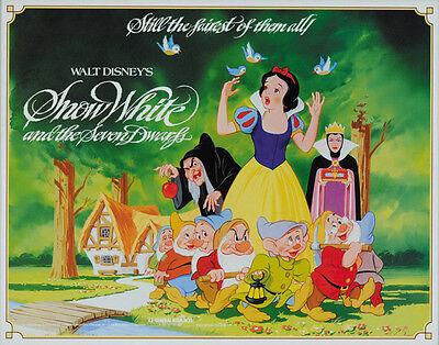 Snow White and the Seven Dwarfs (1937) Walt Disney cartoon movie poster print 5