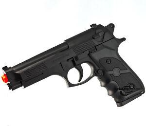 NEW AIRSOFT GUN FULL SPRING M9 BERETTA 6mm BB BLACK