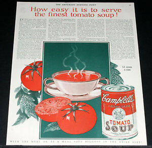 1926-OLD-MAGAZINE-PRINT-AD-CAMPBELLS-TOMATO-SOUP-THE-FINEST-SOUP-MADE-ART