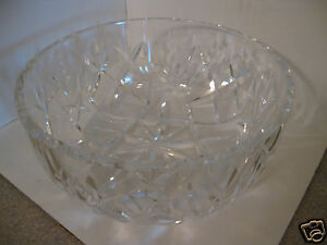 "Waterford Crystal 8"" Giftware Bowl Fruit or Serving or Display Gorgeous!"