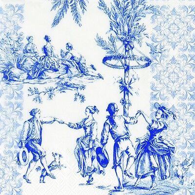 Menuet french dancing 8 colours u choose luxury paper table napkins 20