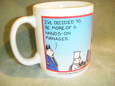"DILBERT ""COMPANYS WITH & WITHOUT A STRATEGY""  MUG SCOTT ADAMS  {*~*}"