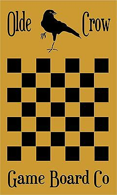 PRIMITIVE OLDE CROW CHECKERS GAME BOARD STENCIL .007 MIL FREE SHIPPING