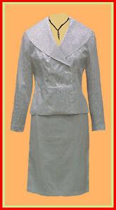 BRIDE-BRIDAL-Suit-J-Rose-WHITE-2-pc-Brocade-Skirt-Set-22W-XXX-3X