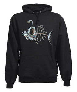 FUN-Hooded-Sweatshirt-Bonefish-Fish-Bone-Kapuzen-Pulli-Gr-M-bis-XXL-3XL