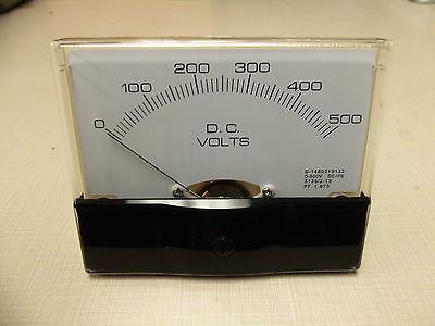 "Dc. Panel METER 0 - 500 v  Volts 4"" X 3 1/2"" NEW For CB Radio Ham Amp Amplifier"
