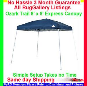 Ozark-Trail-9-039-x-9-039-Express-Canopy-YARD-HOME-CAMPING-GAZEBO-TENT-WMT-99SLWG-B