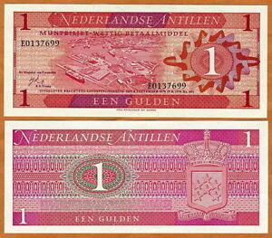 Netherlands-Antilles-1-Gulden-1970-P-20-UNC