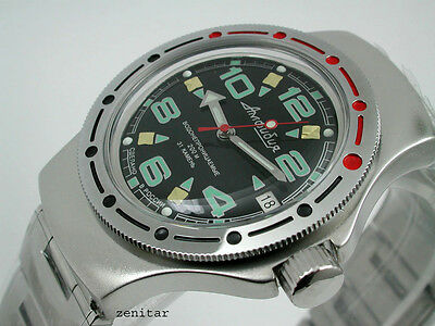 RUSSIAN  VOSTOK AUTO AMPHIBIAN  DIVER WATCH #0117c NEW