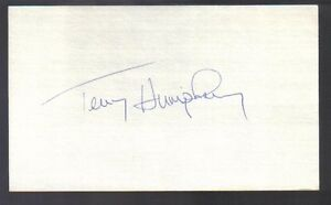 Terry-Humphry-signed-3x5-index-card-Autographed-Expos-Angels-Tigers