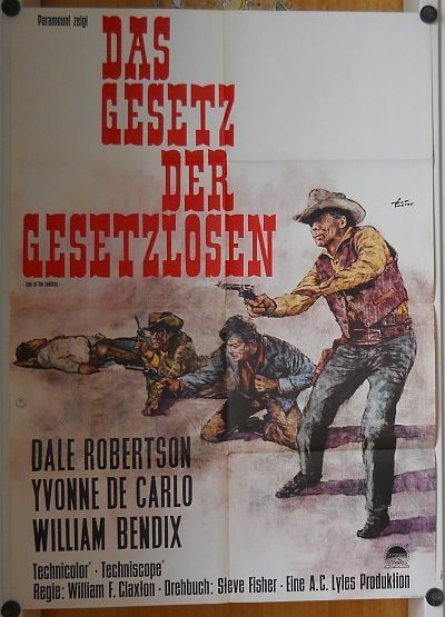 GESETZ DER GESETZLOSEN (Kinoplakat '64) - YVONNE DE CARLO / DALE ROBERTSON