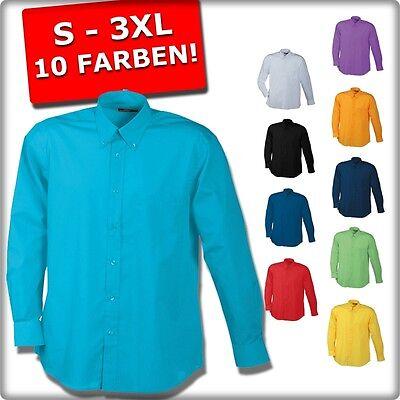 HERREN BASIC HEMD LANGARM SLIM FIT 10 Farben  POLO SHIRT STAR CLUB STYLE NEU