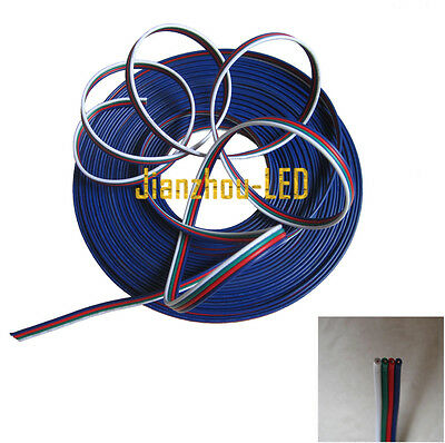 10M 10 Meter RGB 4-Pin Extension Connector Cable Cord For3528 5050 RGB LED Strip