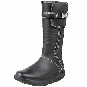 MBT-Womens-GOTI-Casual-Mid-Leather-Rocker-Bottom-Toning-Boots-Black