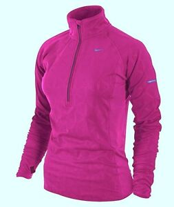 Nike-Womens-Element-Thermal-Half-zip-Long-Sleeve-Top-Jacket-Vivid-Grape-424844