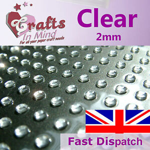 195-x-2mm-Clear-Quality-Rhinestone-Diamante-Gems-Diamonte-4-Greeting-Card-Crafts