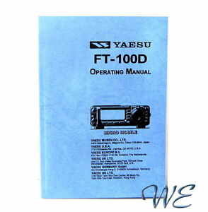 NEW-Yaesu-FT-100D-Operating-Manual-Book-in-English