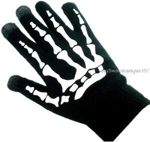 Magic Touch Screen Winter Skleton Gloves Palm Grip Dots