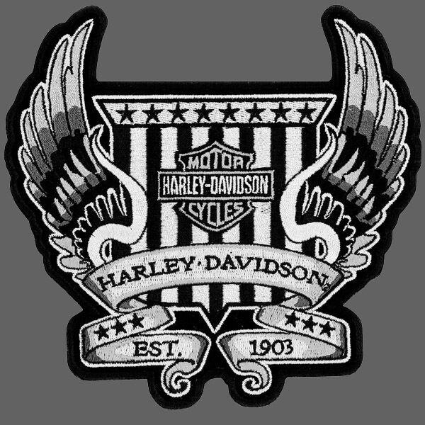 HARLEY DAVIDSON WINGED CREST  PATCH