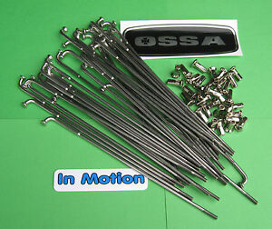 Ossa-MAR-amp-TR77-Twinshock-Trials-FRONT-Stainless-Butted-Spoke-set